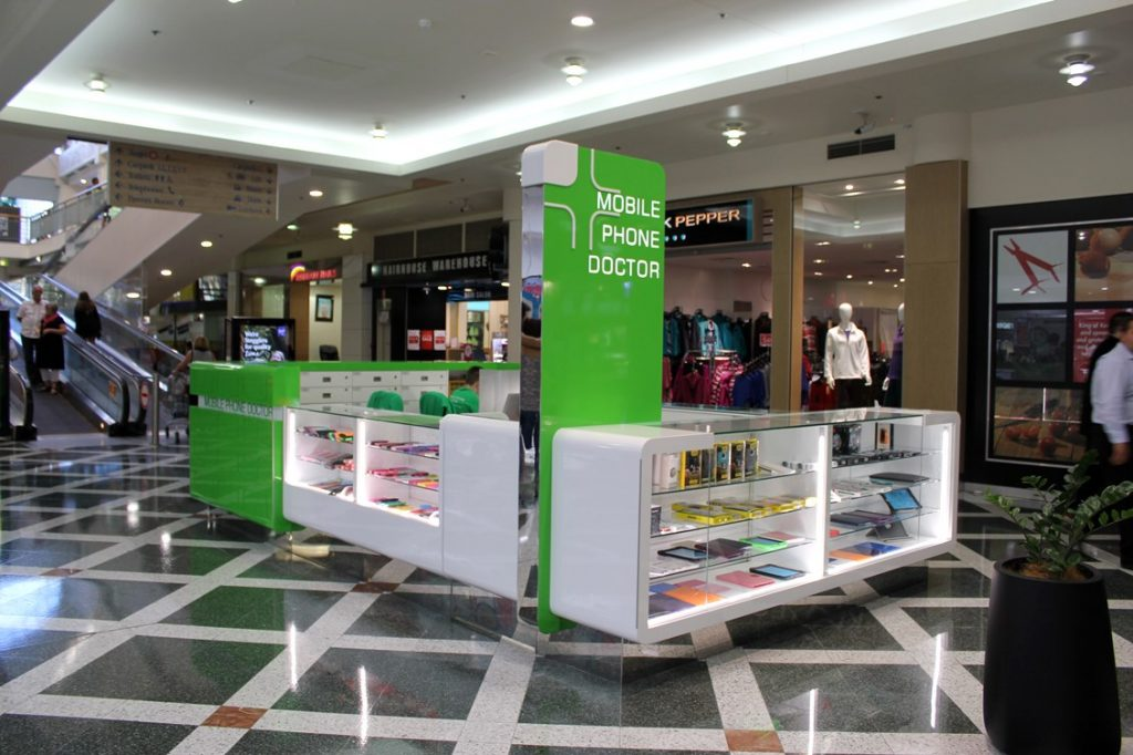 Mobile Phone Doctor kiosk at Sunshine Plaza Shopping Centre, Maroochydore